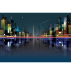City landscape at night vector image vector image