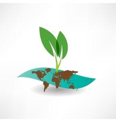 environmental site icon vector image vector image