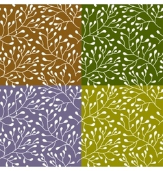 Floral seamless texture pattern vector image