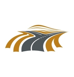 Forked road symbol with two ways vector image