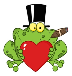 frog with a hat vector image