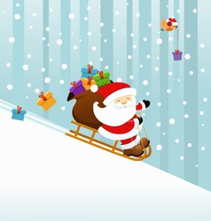Santa On Sledge vector image vector image