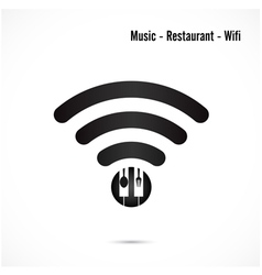 Wifi signmusic and restaurant icon vector