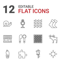 12 pattern icons vector