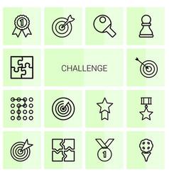 14 challenge icons vector