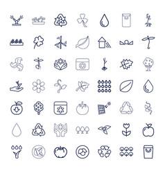 49 eco icons vector