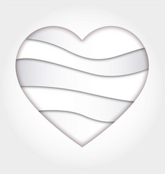 abstract heart shape vector image