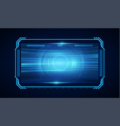 abstract hud ui gui future futuristic screen vector image