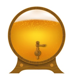 Abstract wooden barrel of beer vector image