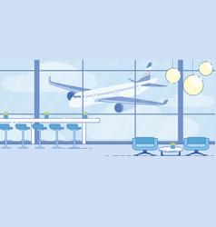 airport terminal comfortable waiting area vector image