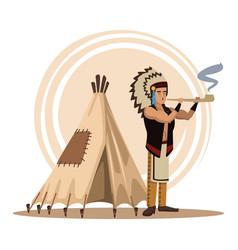 American indians cartoon vector