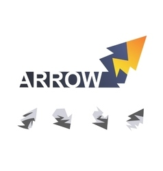 Arrow like lightning vector image