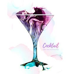 Artistic cosmopoliatn cocktail silhouette vector