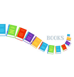 Background with books vector