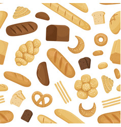 cartoon bakery pattern or background vector image