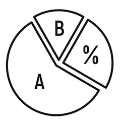 Chart pie icon outline style vector