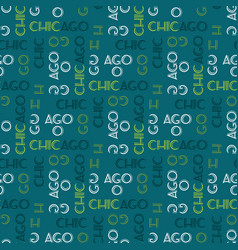 Chicago pattern seamless design vector