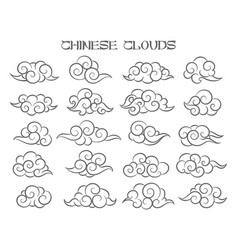 Chinese clouds set vector