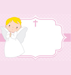 Christening or communion card vector