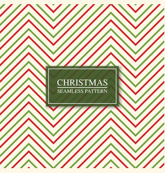 christmas seamless colorful zigzag pattern bright vector image