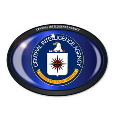 Cia flag oval vector