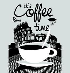 Coffee banner on background of prague landscape vector