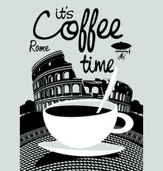Coffee banner on background prague landscape vector