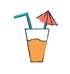 delicious refreshment glash to refresh day vector image