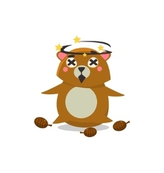 Dizzy Brown Bear vector
