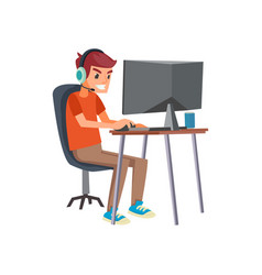 E-sports player vector