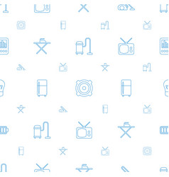 Electrical icons pattern seamless white background vector
