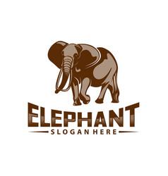 Elephant logo design animal logo template icon vector
