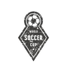 emblem for soccer championship vector image