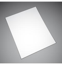 Empty paper sheet vector