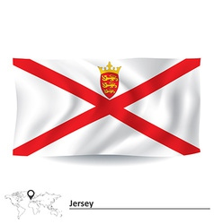 Flag of Jersey vector image