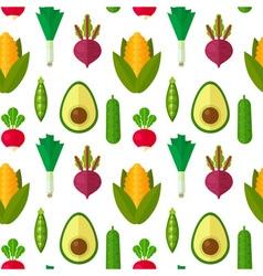 Flat vegetables seamless pattern vector