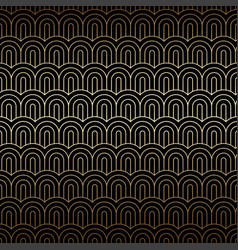 Golden seamless background with chinese waves art vector