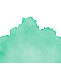 Green abstract watercolor isolated on white vector