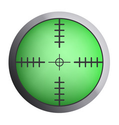 green sniper crosshair icon realistic style vector image