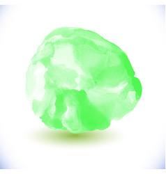 green watercolor circle vector image vector image