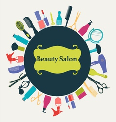 Hair Beauty salon background vector image