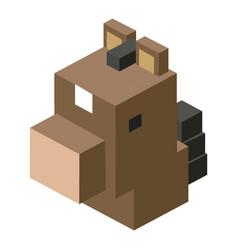 Head horse modular animal plastic lego toy blocks vector