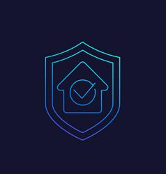 House insurance linear icon vector
