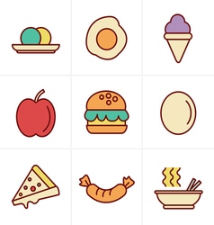 Icons Style food icons vector image