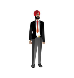 Indian bearded businessman in business suit vector