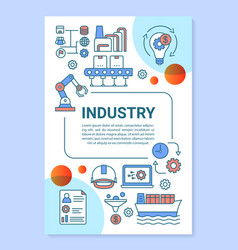 Industry brochure template layout productive vector