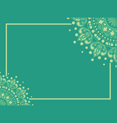 Islamic or indian floral medallion background vector