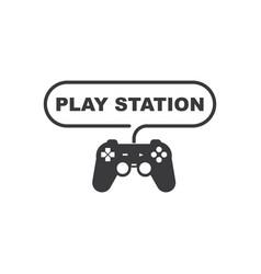 Joystick playstation logo icon vector
