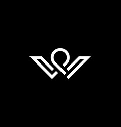 Letter w and p logo design concept vector