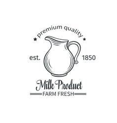 Logo milk product vector